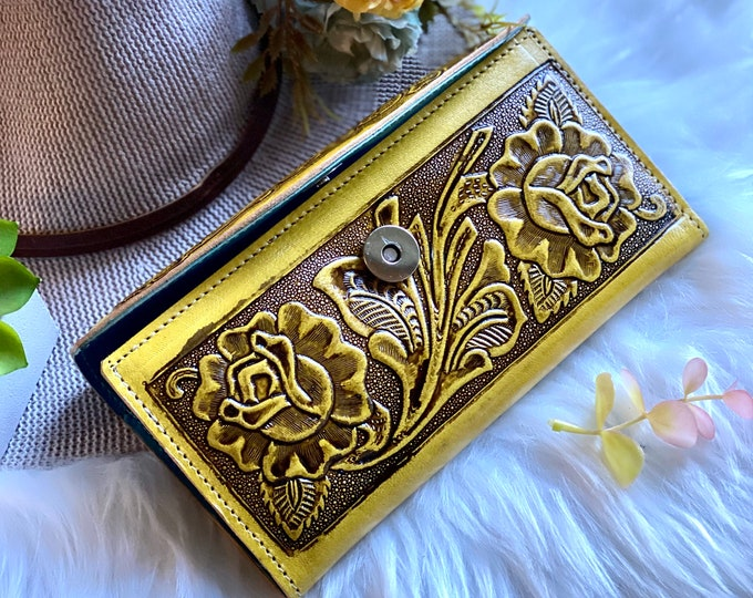 Handmade Leather wallets for women -western wallet woman - gift for her