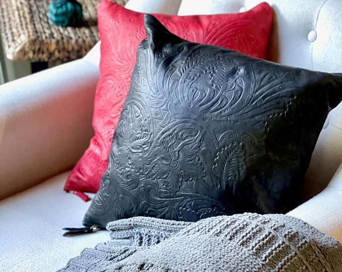 Handmade Leather pillow covers- Housewarming gift-cushion cover