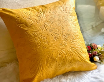 Handmade Authentic leather pillow covers- Decorative pillow covers-
