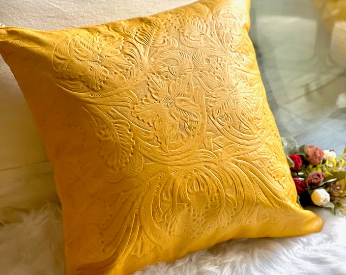 Handmade Authentic leather pillow covers• Decorative pillow covers • Gifts for her