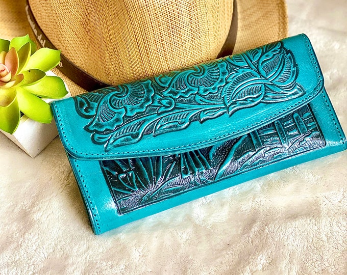 Featured listing image: Western Leather wallets for women / Women leather wallet