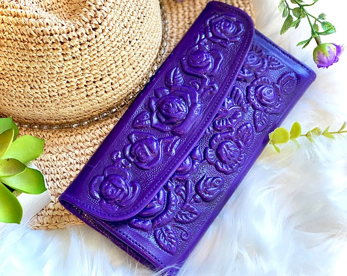 Handmade leather wallets - woman wallet leather - gifts for her - gifts for mom -  Girly accessories- wallet woman - woman purse
