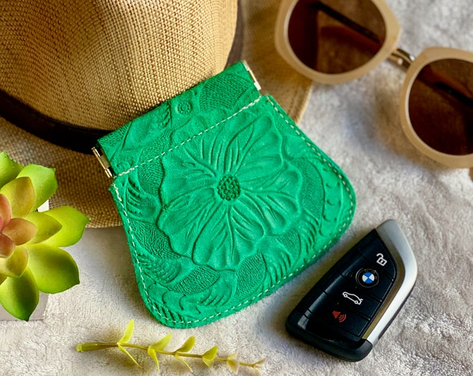 Small Pouch • Leather Pouch Coin Purse • Coin Holder • gifts for her