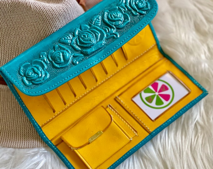 Wallets for women • Roses • gifts for her •leather wallet women