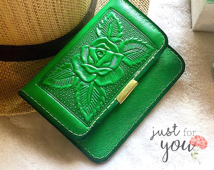 Women's Wallets - Vintage Style Small Purse - leather wallet - Gift for her - wallets for women