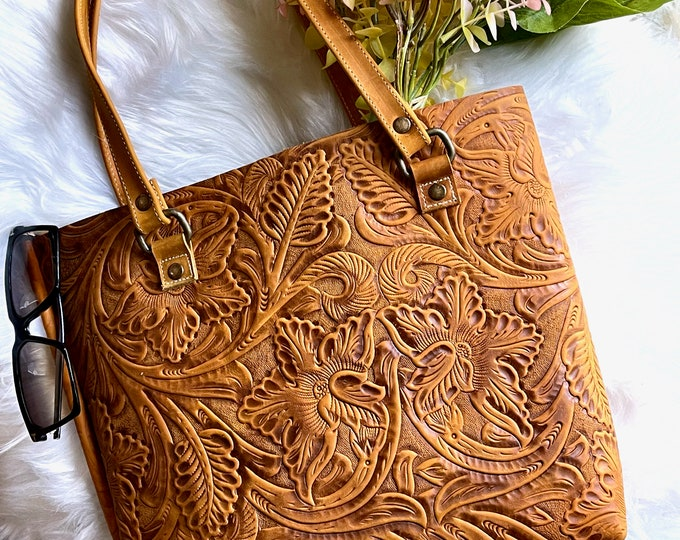 Handmade Leather tote bags * bags for women* Gifts for her