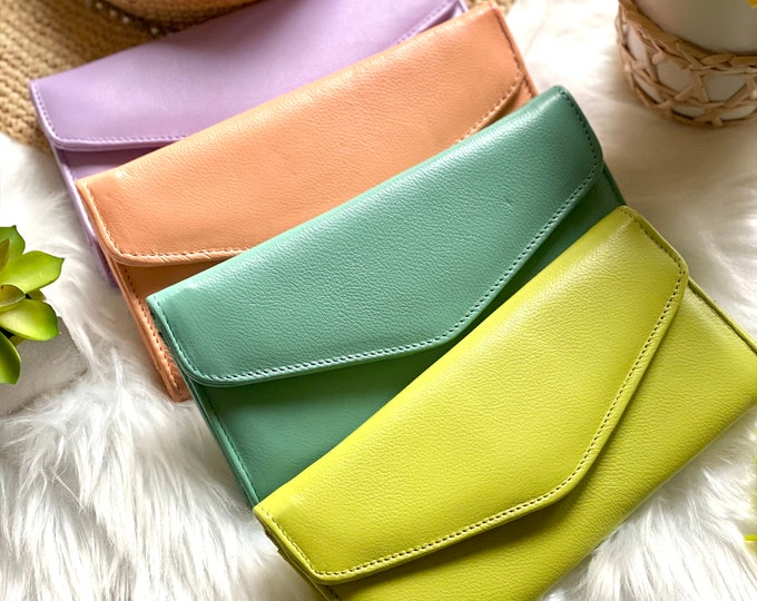 Handcrafted authentic leather wallets - long wallets - women's wallets - wallets for women -gifts for her