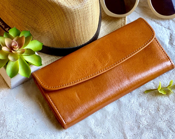 Handcrafted authentic leather woman wallets - woman wallet - woman purse - leather wallet - women's wallet - gift for her