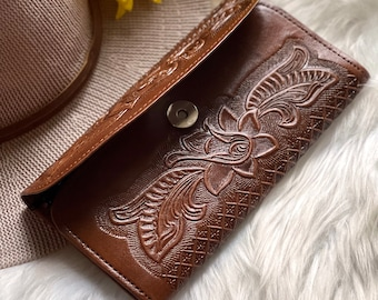 Handmade leather wallets - Gifts for woman - Credit cards wallets