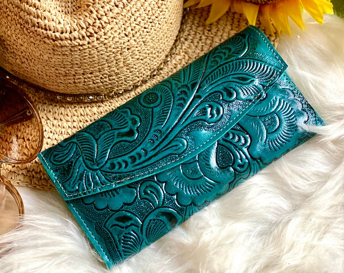 Leather wallet women's boho- Authentic handcrafted leather wallet - wallet women - leather wallet women's  - gifts for women