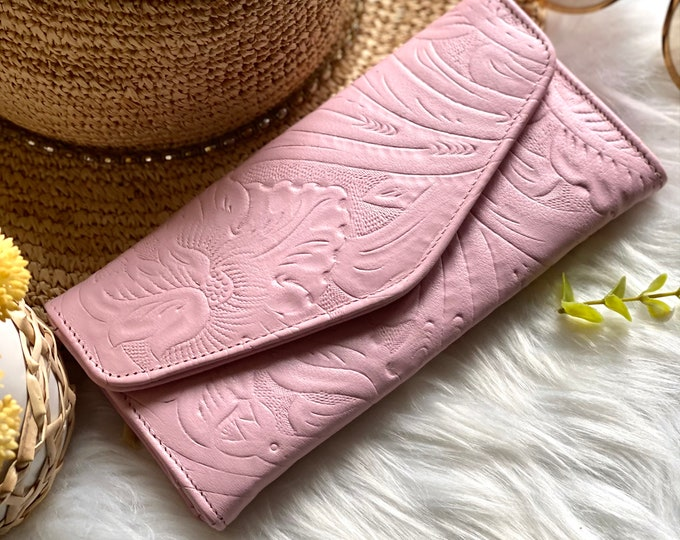 Handmade leather womens wallet -leather wallet -Gifts for her