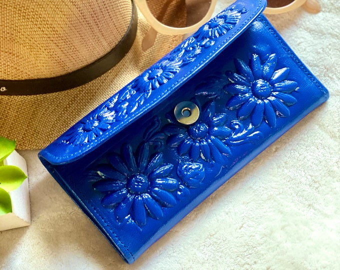 Sunflowers gifts- Leather wallets for women- Sunflowers Women Wallet- Credit Card Wallet - Wallet purse - Christmas gifts for mom