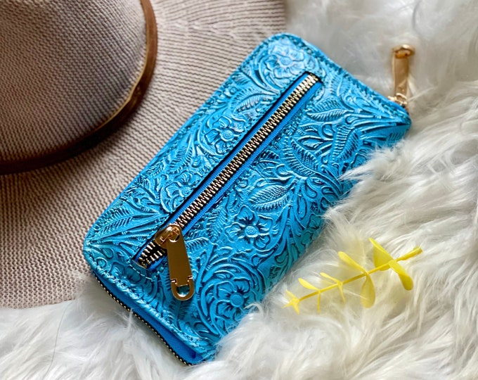 Leather wallet organizer • gifts for her • women wallets