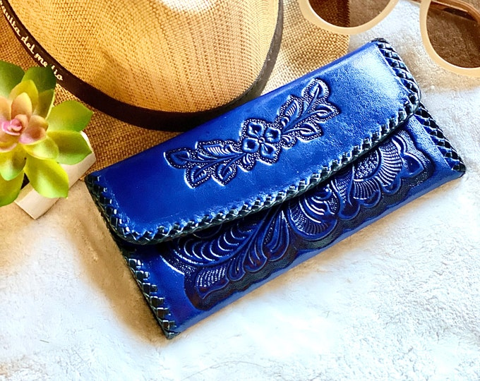 Leather wallets for women  - Leather wallet women's - Western wallets - Bohemian wallet- gifts for her