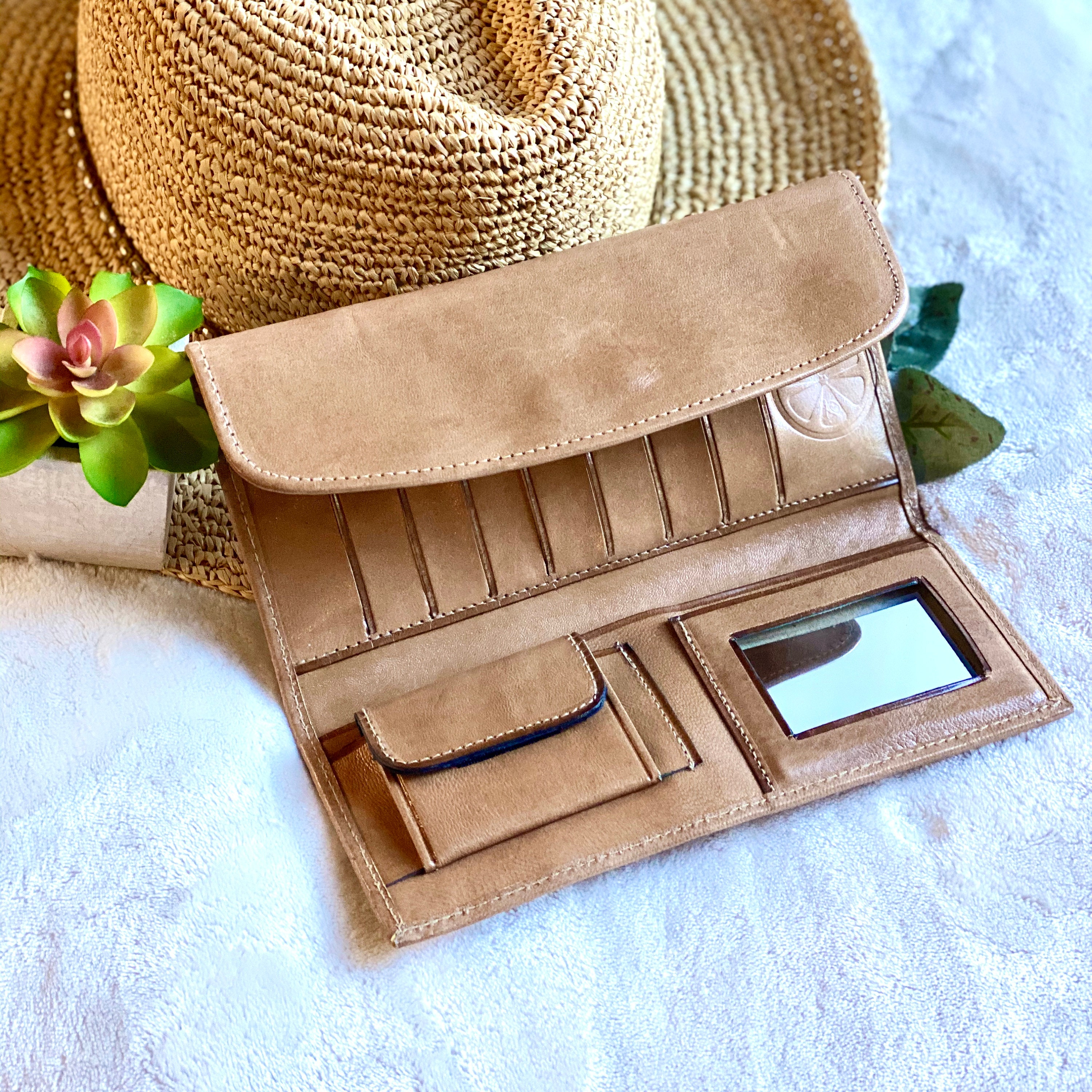 handmade authentic leather women wallets  credit cards