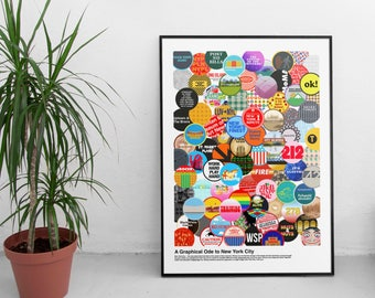 18x24 NYC Print (A Graphical Ode to NYC - Overlap Design)