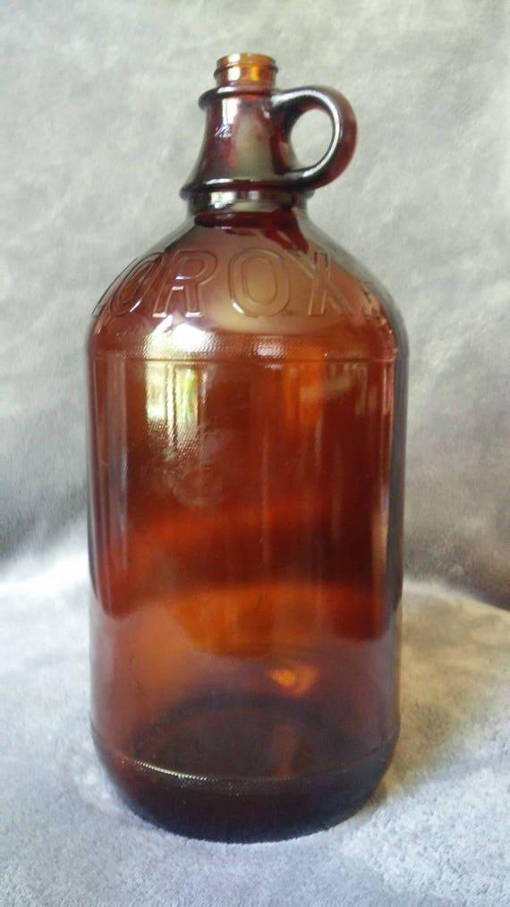 Bouteille en verre ambre clorox 1951-1954 demi gallon   Etsy 9d12668a3ba
