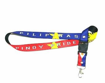 2PCS Pinoy Pride Philippine Flag Lanyard I.D. Badge Holder Lace