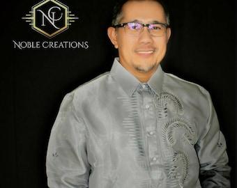 BARONG TAGALOG / Philippine Formal Wear For Men / BLACK Barong