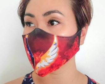 FACE MASK Filipino Flag Inspired Non-Medical Sublimation Washable Dust Mask - PHOENIX
