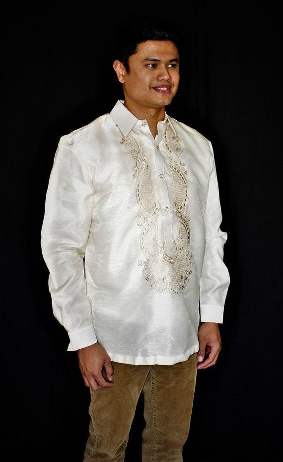 barong tagalog filipino national costume filipiniana formal etsy barong tagalog filipino national costume filipiniana formal dress for men beige made in lumban laguna philippines