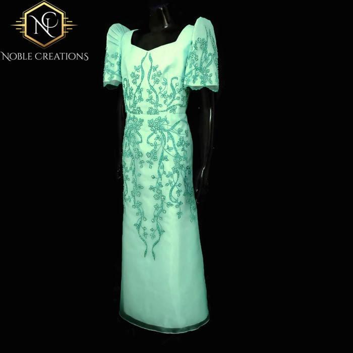 FILIPINIANA DRESS Embroidered and Beaded MESTIZA Maria Clara Baro at ...