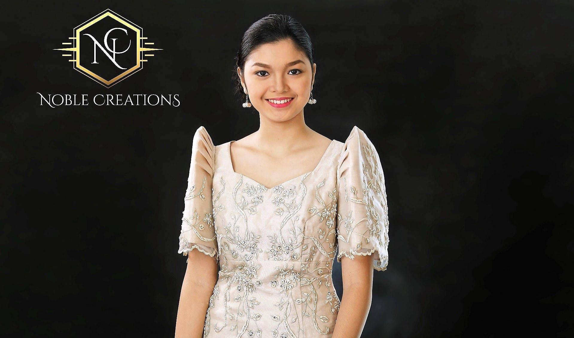 filipiniana dress embroidered and beaded mestiza maria clara baro at