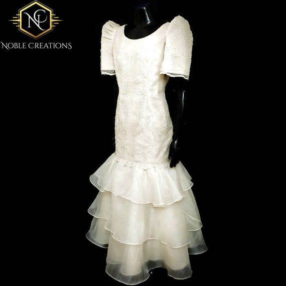 Filipiniana Dress Embroidered And Beaded Mestiza Serpentina Etsy