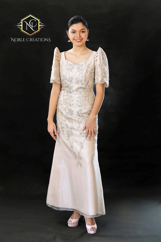 FILIPINIANA DRESS Embroidered and Beaded MESTIZA Maria Clara   Etsy