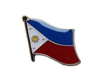 PHILIPPINE FLAG Pin / Lapel  2PCS -  Watawat Bandila ng Pilipinas Patriotic Independence Day 3 Stars and a Sun