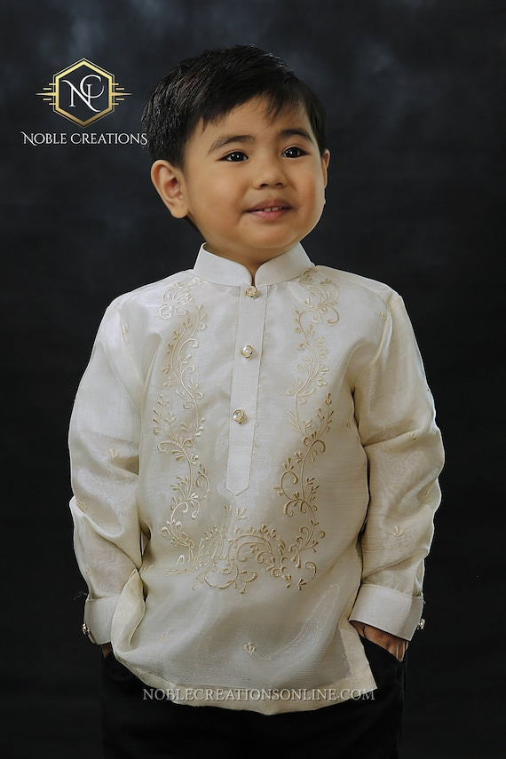 BARONG TAGALOG with Inner Lining Philippine National Costume FILIPINIANA Formal Dress For Men - Blue BNm1zkCF