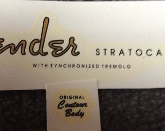 strat type decals gold waterslide 1954