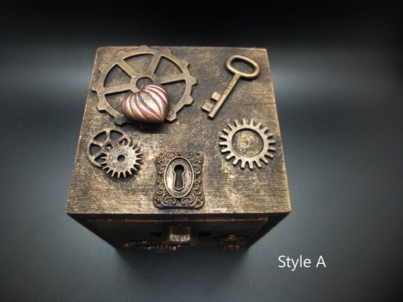 Steampunk Valentine's Day Keepsake Gift Box