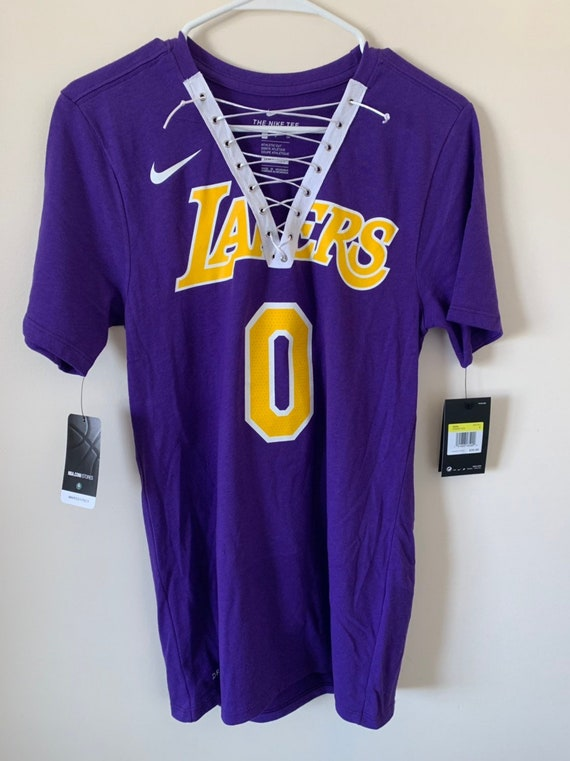 huge discount 18de1 7c4ad Kyle Kuzma Los Angeles Lakers Purple Lace-up NBA Tee
