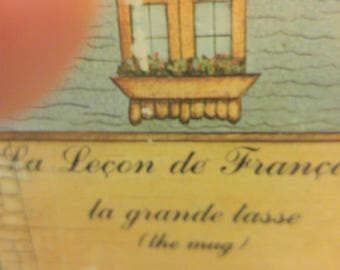 SIGMA Tastesetter La Lecon de Francais by Marsten Mandrajji La grande tasse Mug Boxed