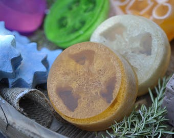 Orange Loofah  Exfoliating Soap Bar, Handmade, Glycerin, Soft skin