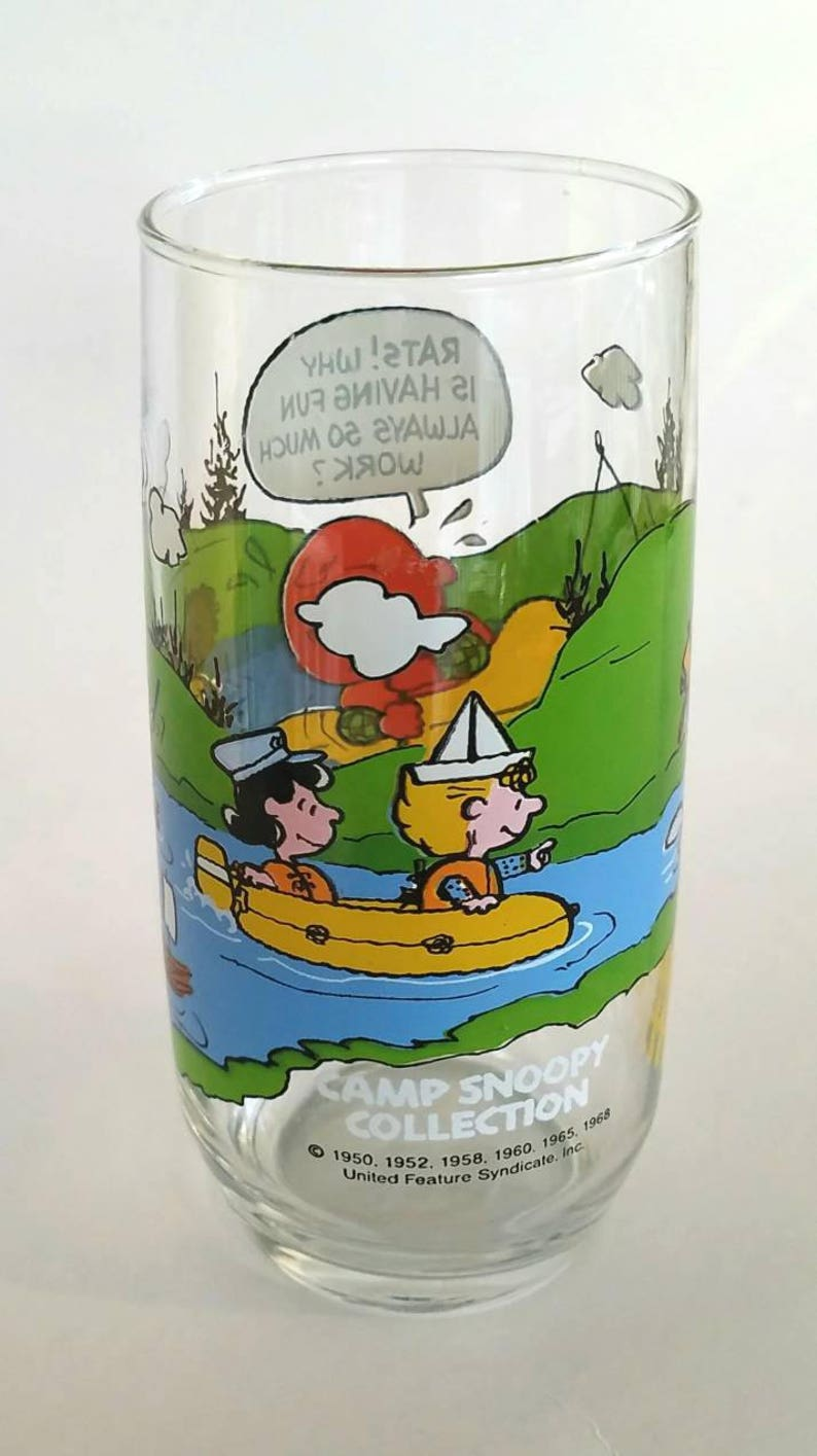 d6ef7e1e51 Vintage Camp Snoopy Collection Promo Glass from McDonald s