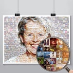 Anniversary collage Unique gift collage Gift photo collage Collage print photo Custom photo collage Custom Mosaic Gift for 70 photo