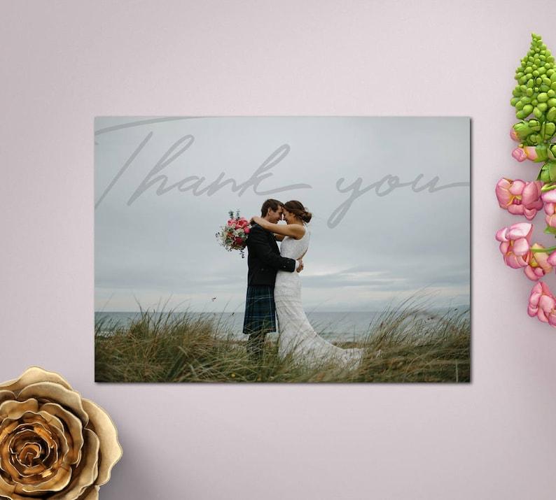 Wedding Thank You Cards Thank You Card SINA Wedding Thank You Card Modern Design Thank You Card