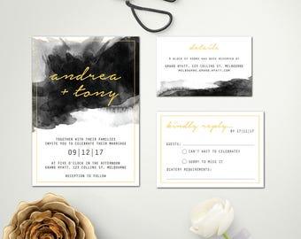 Wedding Invite Design   Digital Download Wedding Invitation   Wedding invitations   Wedding Invites   ZARA SUITE