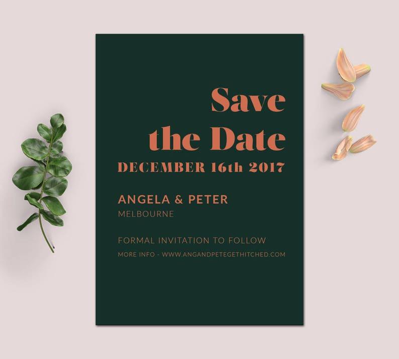 Save the Date SAMARA Save the Date invitations Save the Date Invite Save the Date Invites Digital Download Invitation