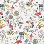 Alexander Henry Fabric - Alexander Henry - A Ghastlie Notion in Natural - Ghastlies Collection - Shipping Included