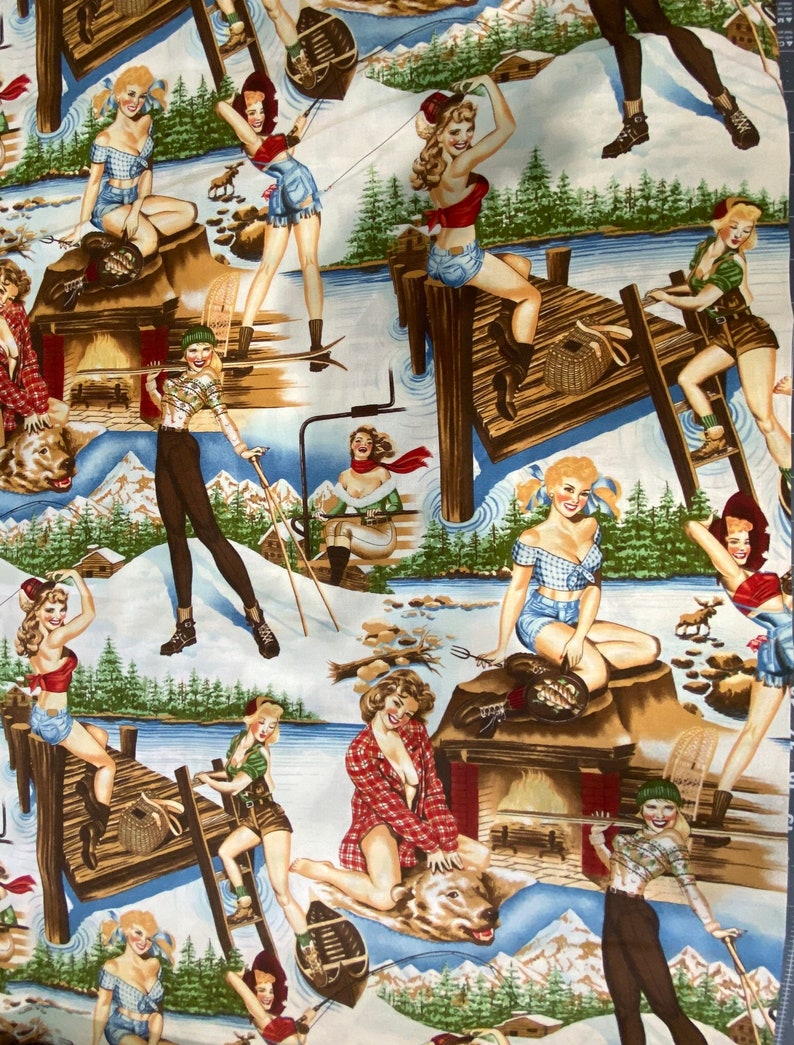 Alexander Henry Fabric  The Great Outdoors  Shipping image 0