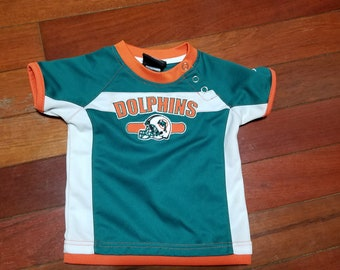 Vintage infant Miami Dolphins throwback NFL football 2 pc suit for boys or  girls unisex by reebok sz 18M 792c90057