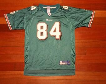 kids vintage miami dolphins Chris Chambers nfl football jersey 84 size XL  extra large aqua boys girls unisex reebok b03598cc3