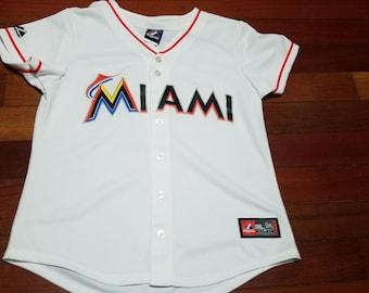dfe50463f vintage Womens Miami Marlins Jose Reyes jersey size medium by Majestic WMNS