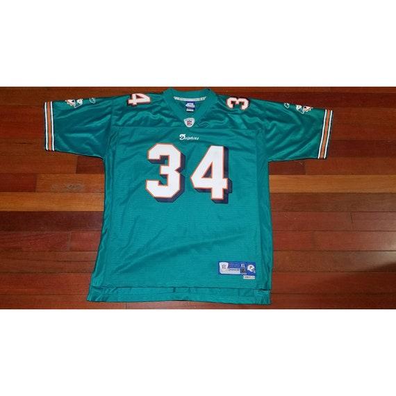 vtg Mens Reebok Miami Dolphins Ricky Williams NFL