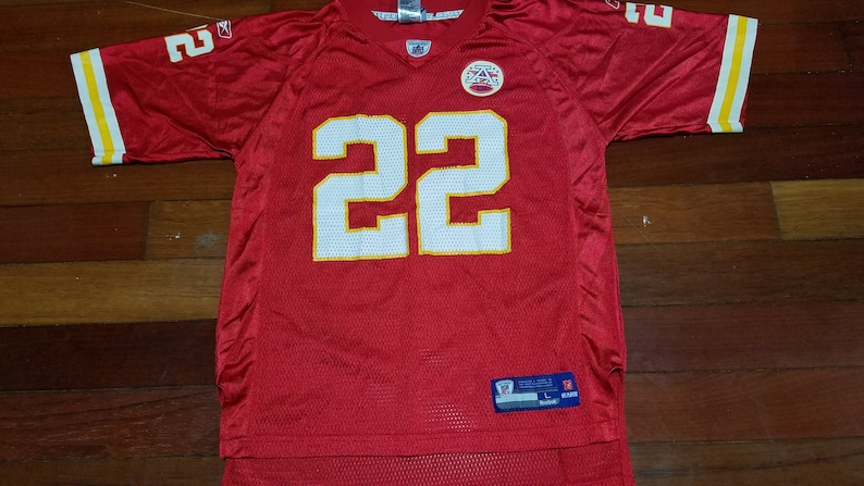 separation shoes 180bb 11f9b vintage kids Kansas City Chiefs Mccluster throwback NFL football jersey for  boys or girls unisex sz L 14