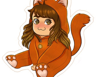 Chibi Hermione Sticker