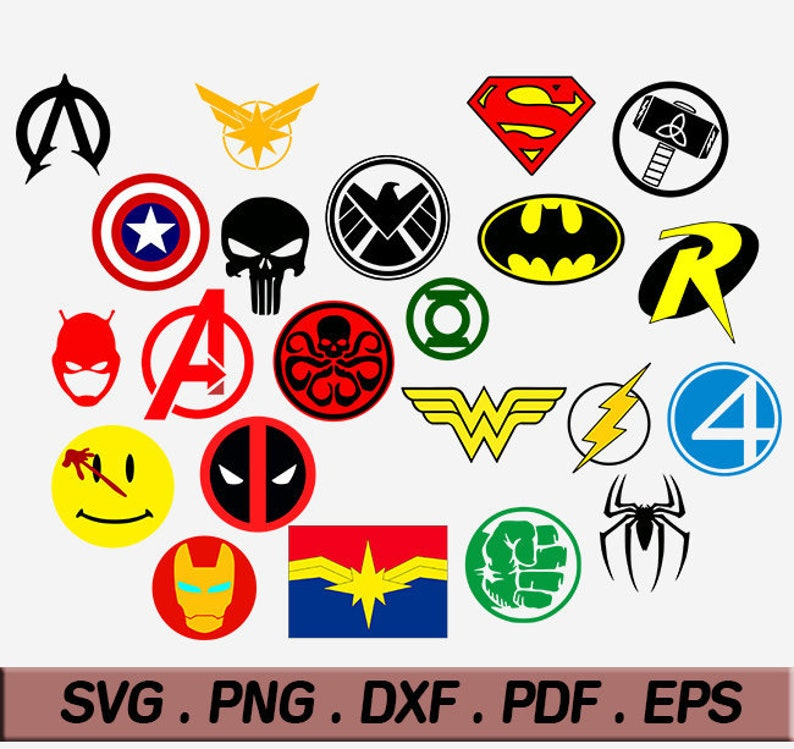 Superhero Logo Svg Easy To Cut And Work With Superhero Etsy
